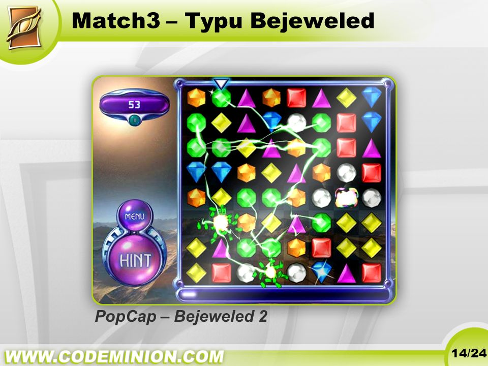 Match3 – Typu Bejeweled PopCap – Bejeweled 2 14/24