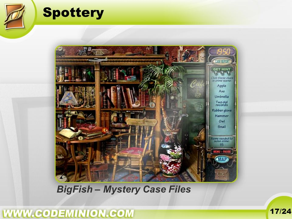 Spottery BigFish – Mystery Case Files 17/24