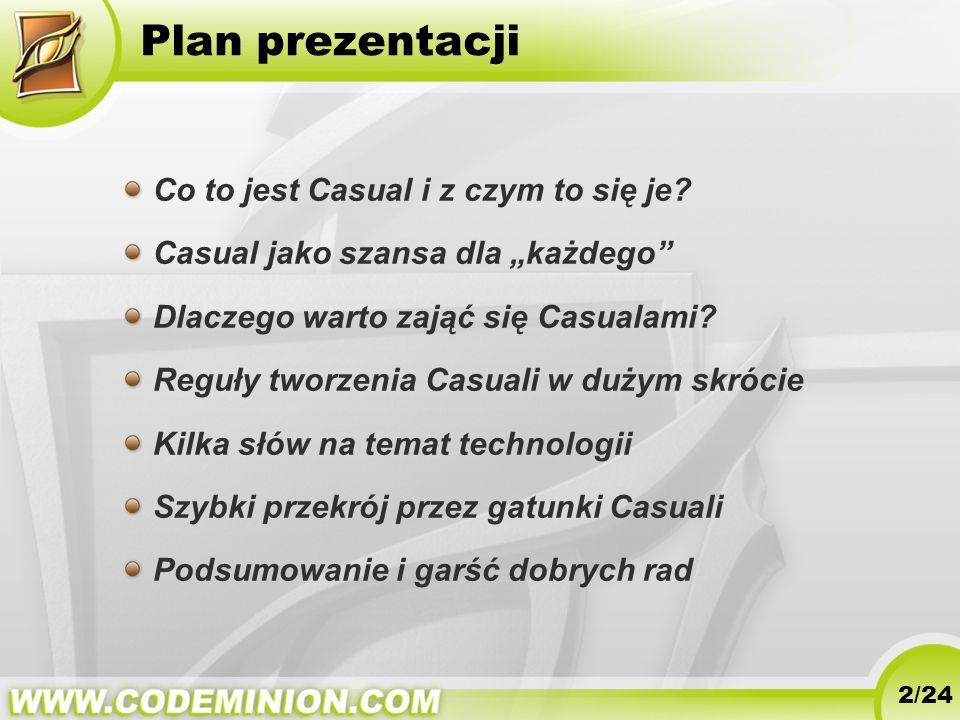 Plan prezentacji Co to jest Casual i z czym to się je
