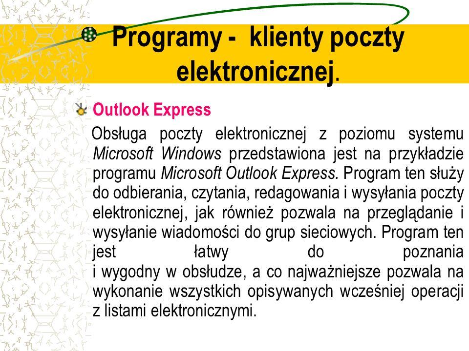 Programy - klienty poczty elektronicznej.