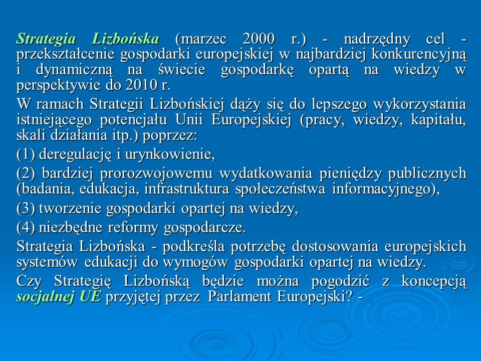 Strategia Lizbońska (marzec 2000 r
