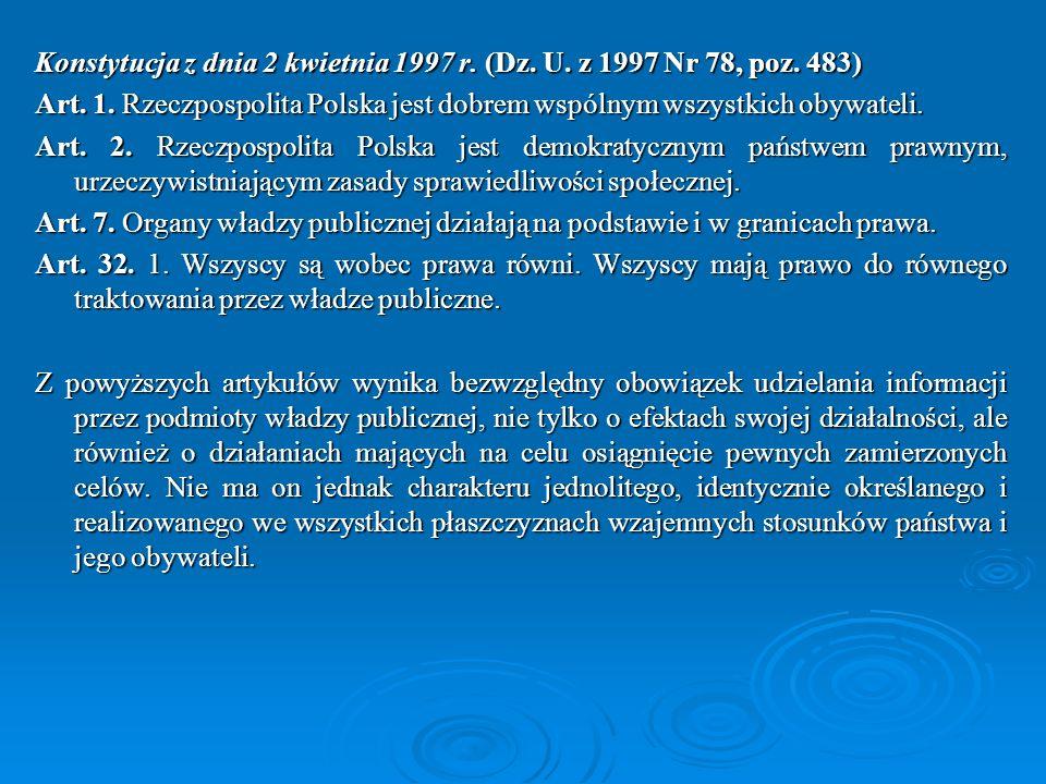 Konstytucja z dnia 2 kwietnia 1997 r. (Dz. U. z 1997 Nr 78, poz. 483)