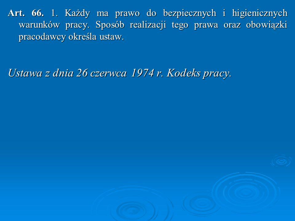 Ustawa z dnia 26 czerwca 1974 r. Kodeks pracy.