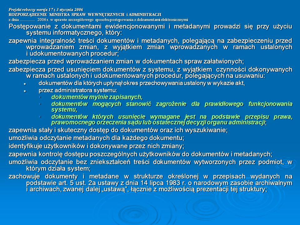 zapewnia stały i skuteczny dostęp do dokumentów oraz ich wyszukiwanie;