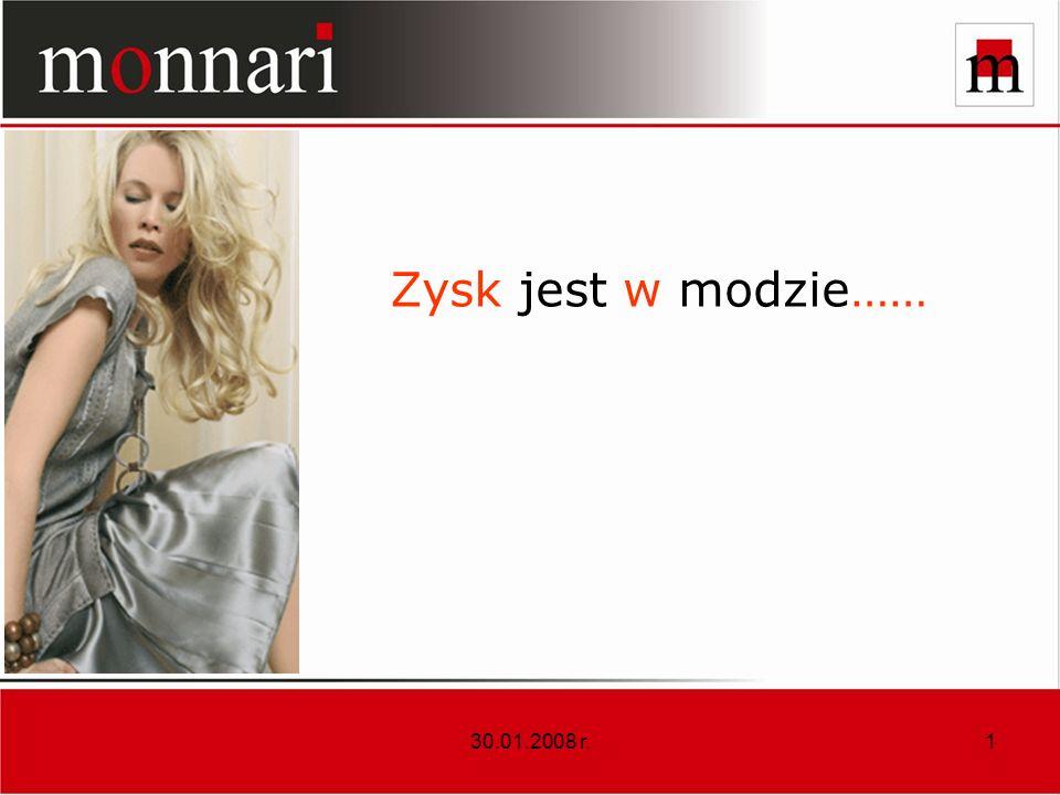Zysk jest w modzie…… 30.01.2008 r.