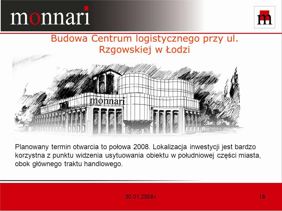 Budowa Centrum logistycznego przy ul. Rzgowskiej w Łodzi