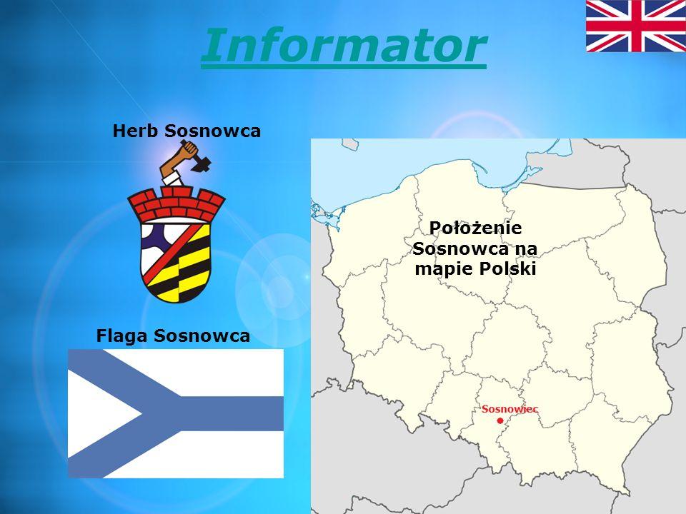 Położenie Sosnowca na mapie Polski