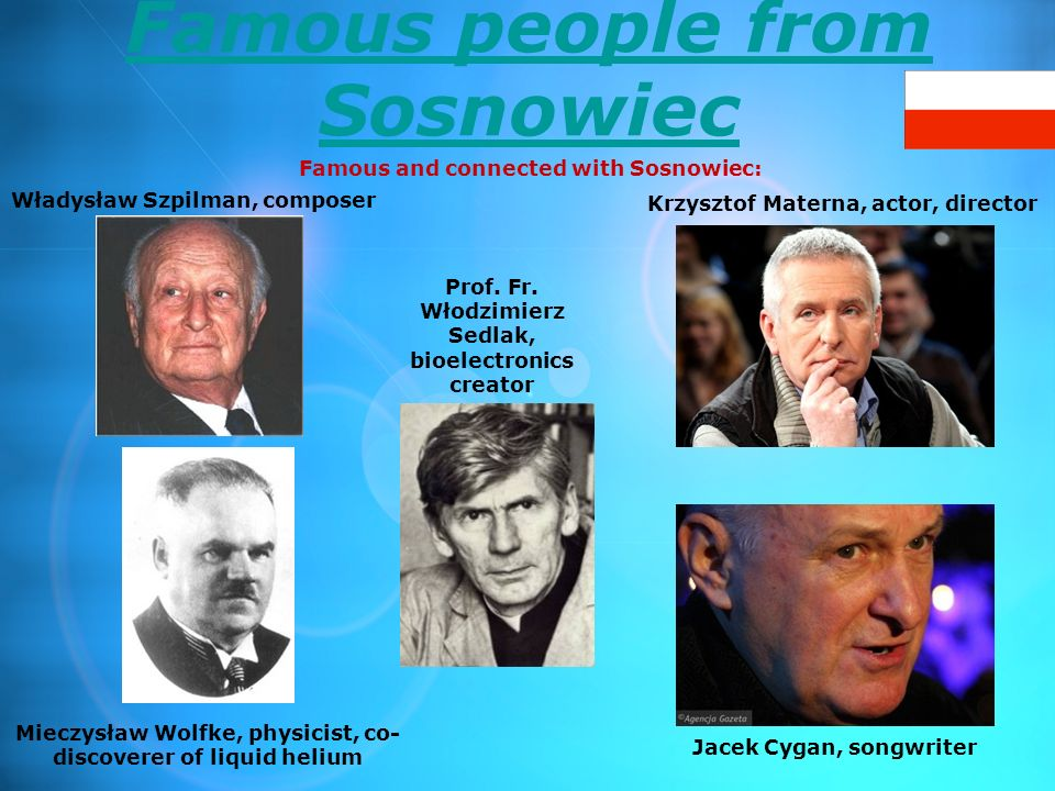 Famous people from Sosnowiec