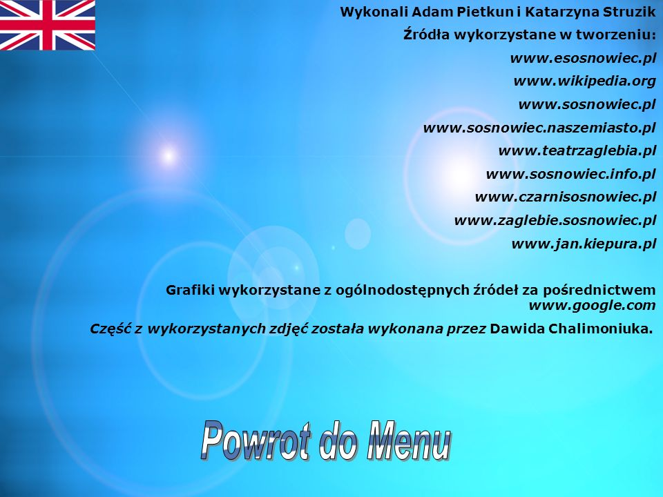 Powrot do Menu Wykonali Adam Pietkun i Katarzyna Struzik
