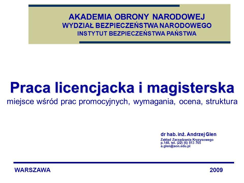 Praca licencjacka i magisterska