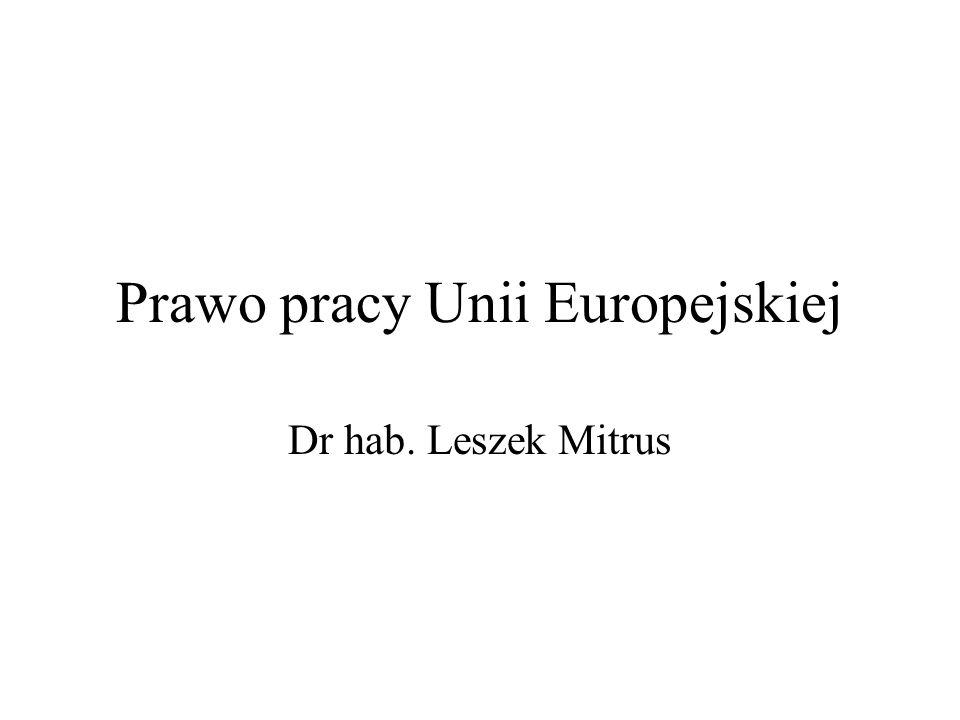 Prawo pracy Unii Europejskiej