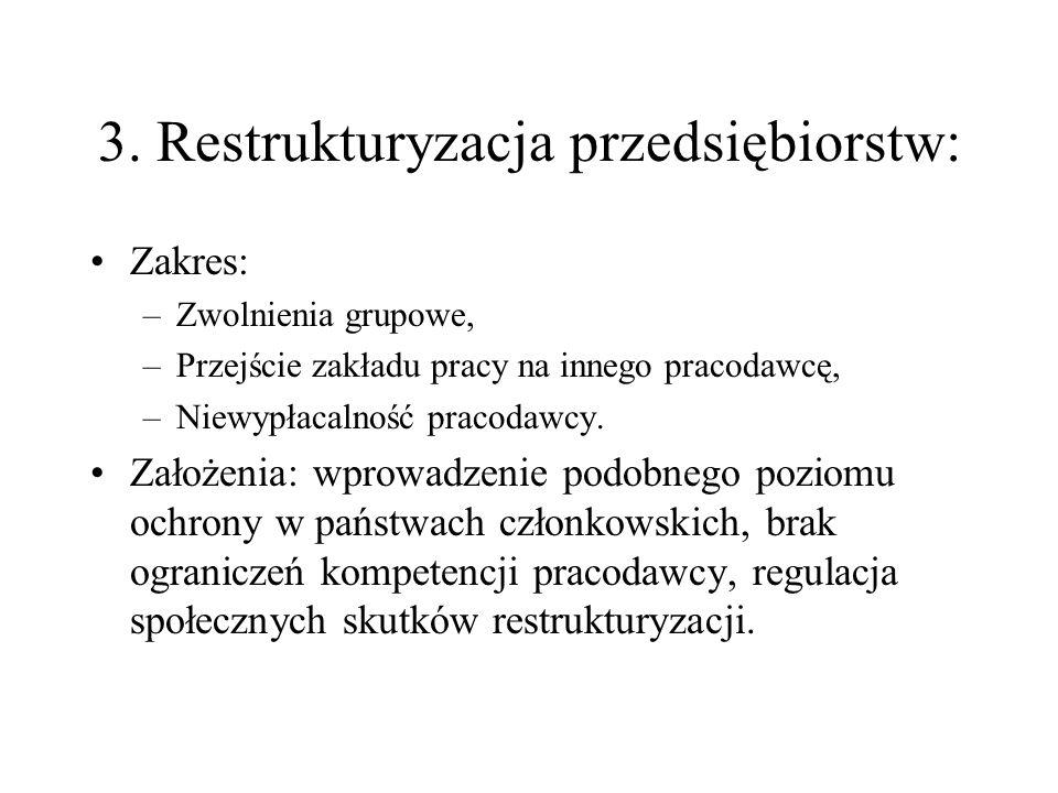 3. Restrukturyzacja przedsiębiorstw: