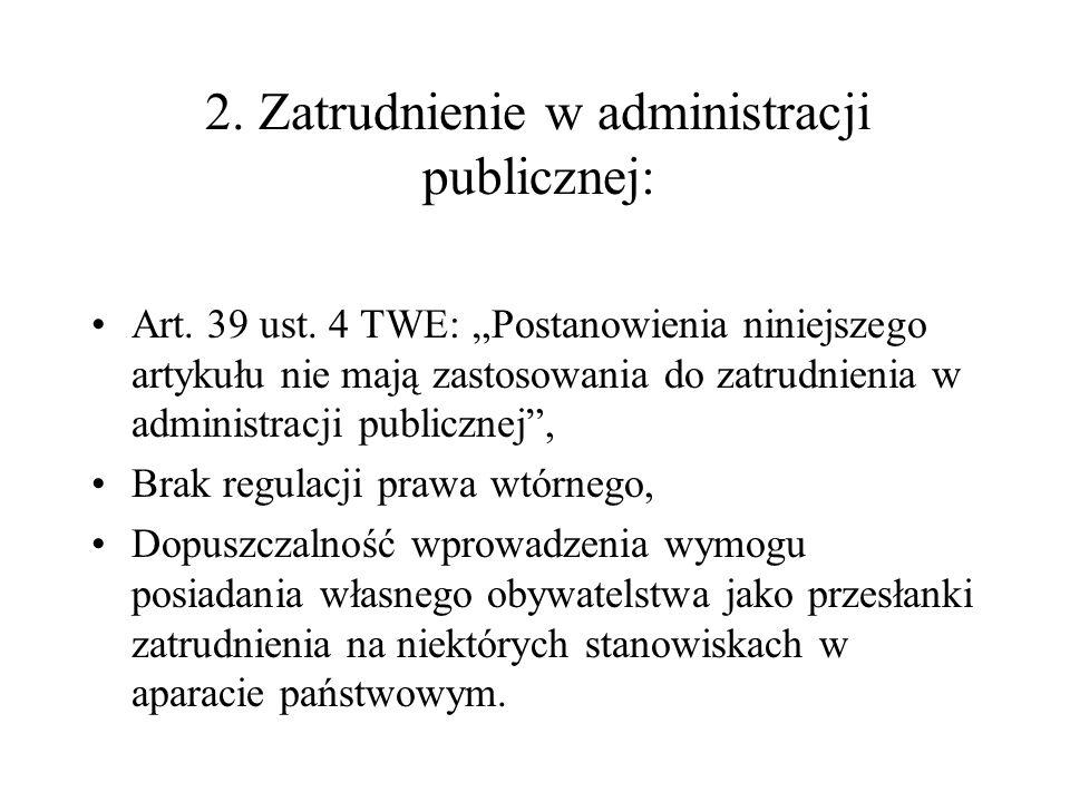 2. Zatrudnienie w administracji publicznej: