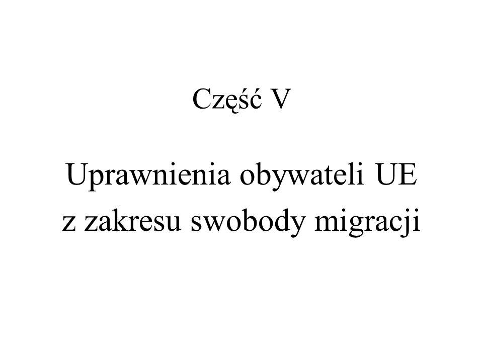 Uprawnienia obywateli UE z zakresu swobody migracji