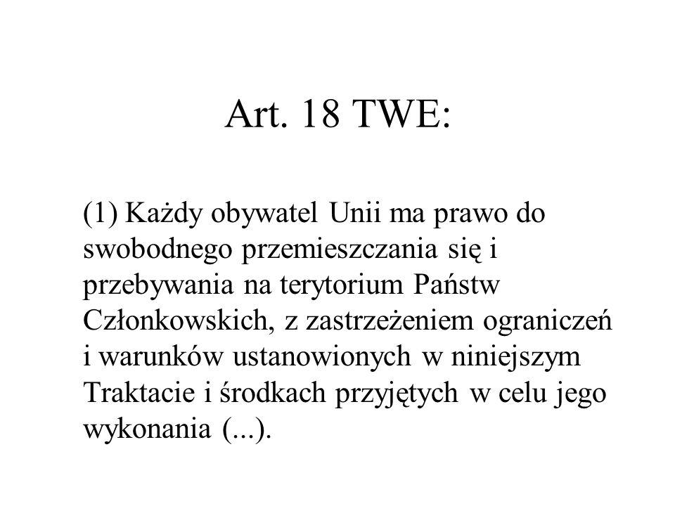 Art. 18 TWE: