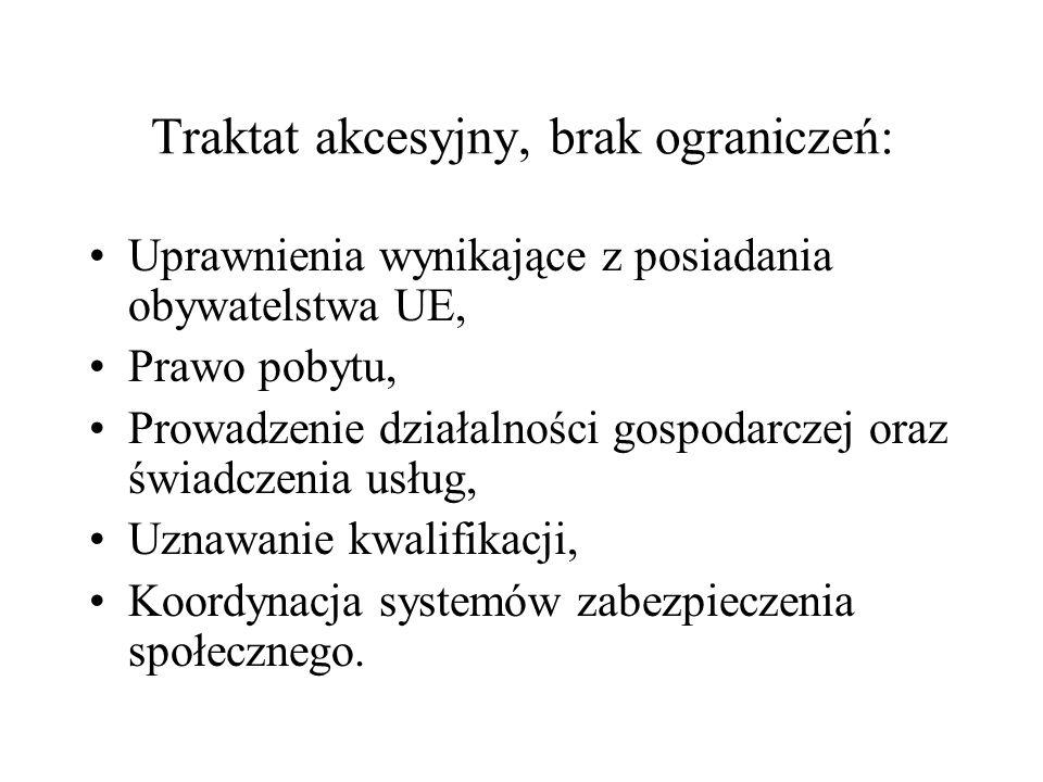 Traktat akcesyjny, brak ograniczeń: