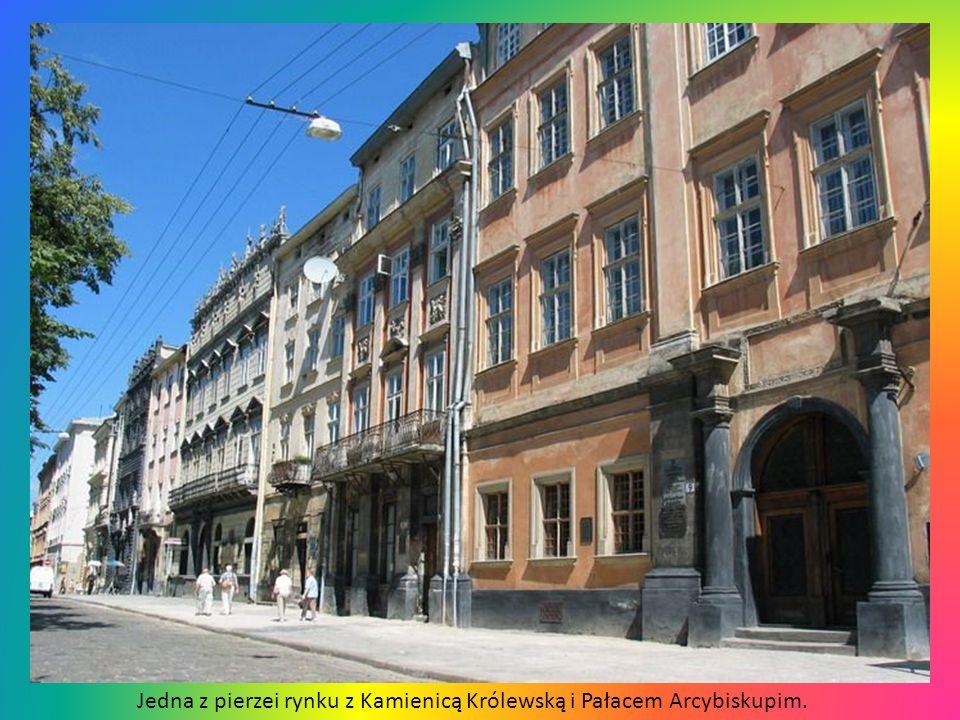 Jedna z pierzei rynku z Kamienicą Królewską i Pałacem Arcybiskupim.