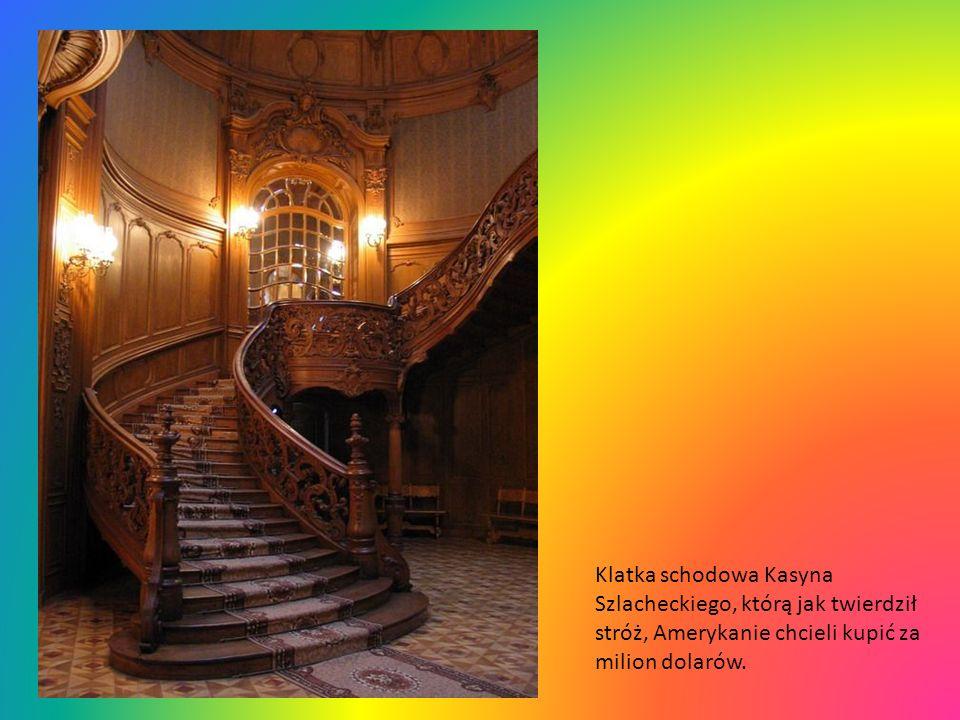 Klatka schodowa Kasyna Szlacheckiego, którą jak twierdził stróż, Amerykanie chcieli kupić za milion dolarów.