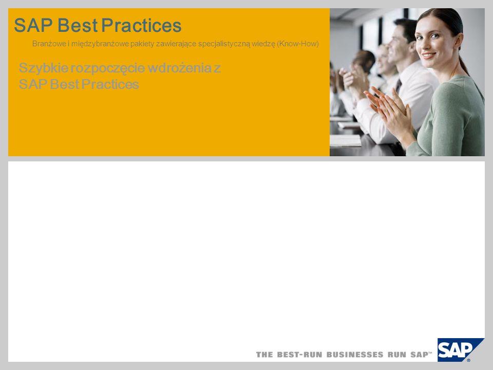 SAP TechEd '04 SAP Best Practices Branżowe i międzybranżowe pakiety zawierające specjalistyczną wiedzę (Know-How)