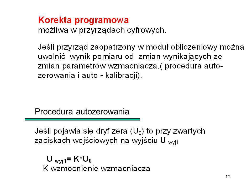 Procedura autozerowania