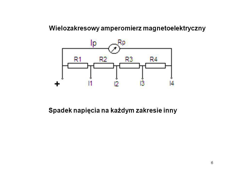Wielozakresowy amperomierz magnetoelektryczny