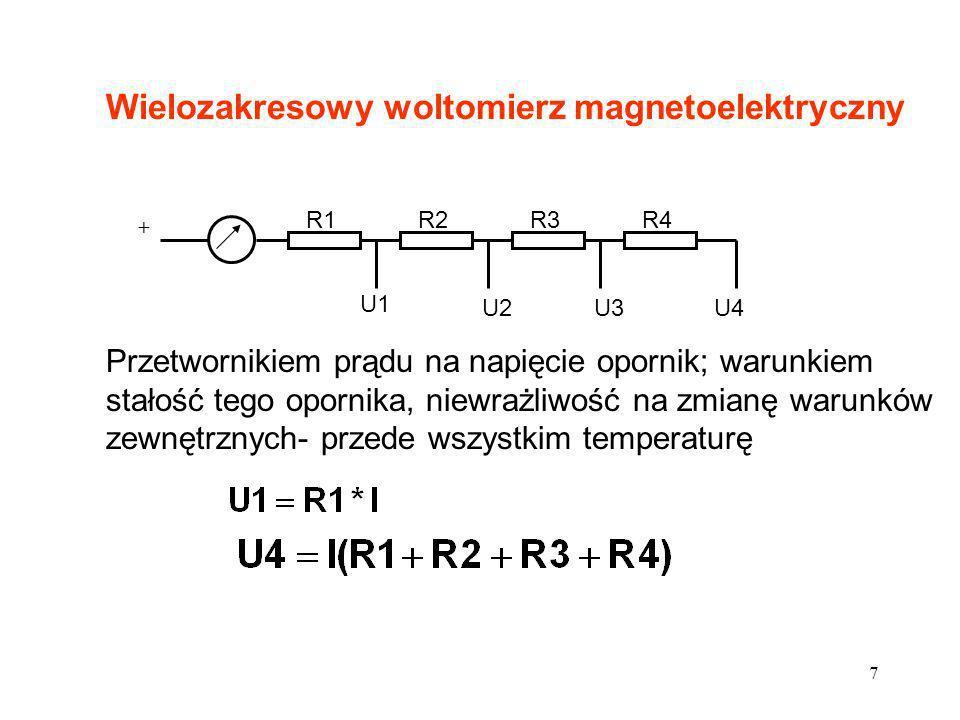 Wielozakresowy woltomierz magnetoelektryczny
