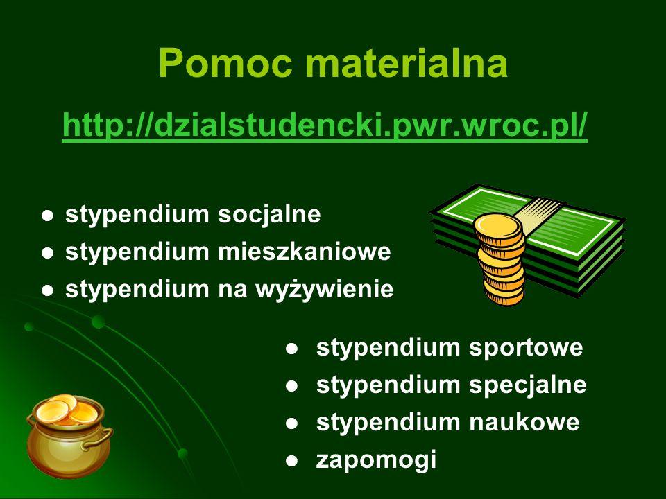 Pomoc materialna http://dzialstudencki.pwr.wroc.pl/