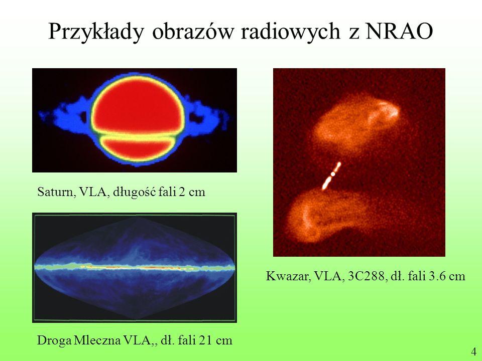 Przykłady obrazów radiowych z NRAO