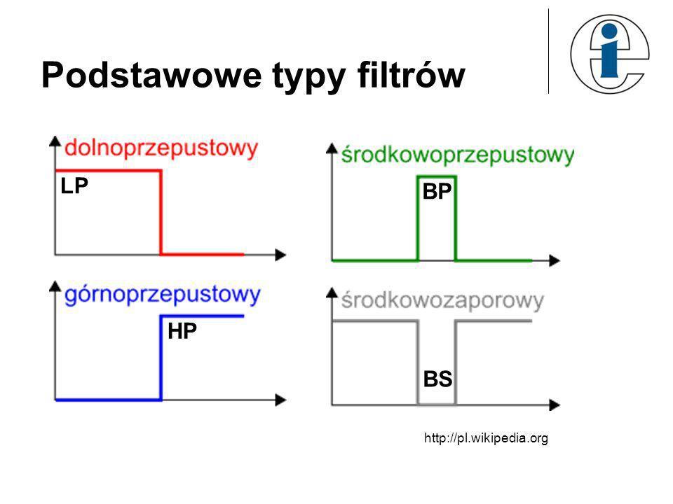Podstawowe typy filtrów