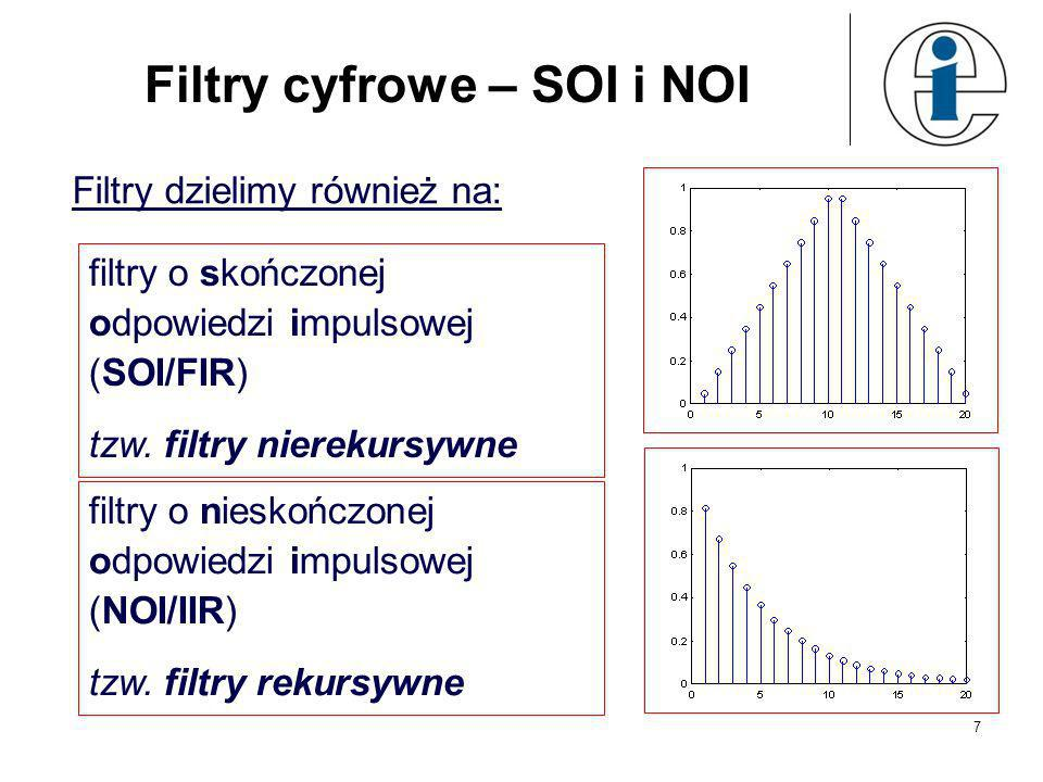 Filtry cyfrowe – SOI i NOI