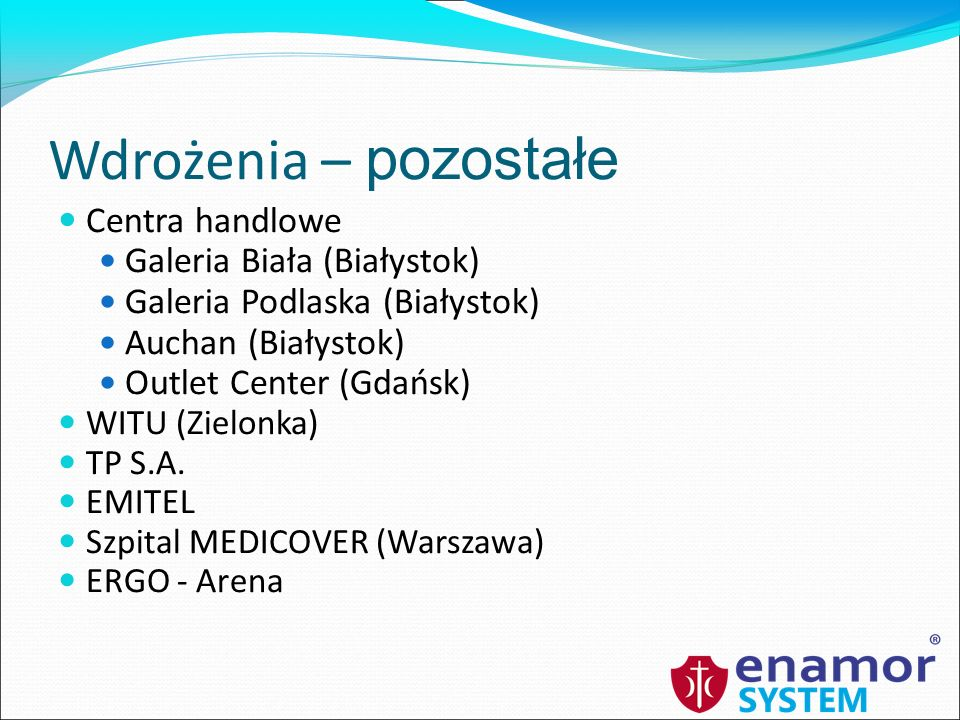 Wdrożenia – pozostałe Centra handlowe Galeria Biała (Białystok)