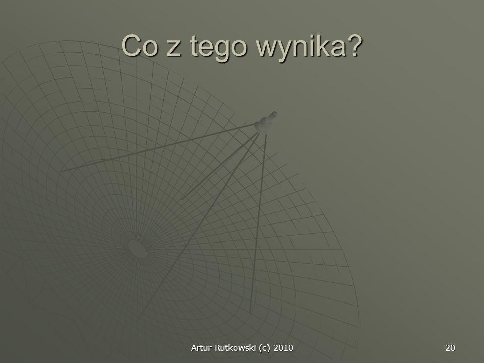 Co z tego wynika Artur Rutkowski (c) 2010