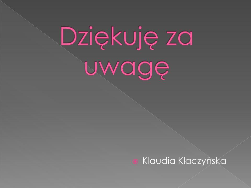 Dziękuję za uwagę Klaudia Klaczyńska