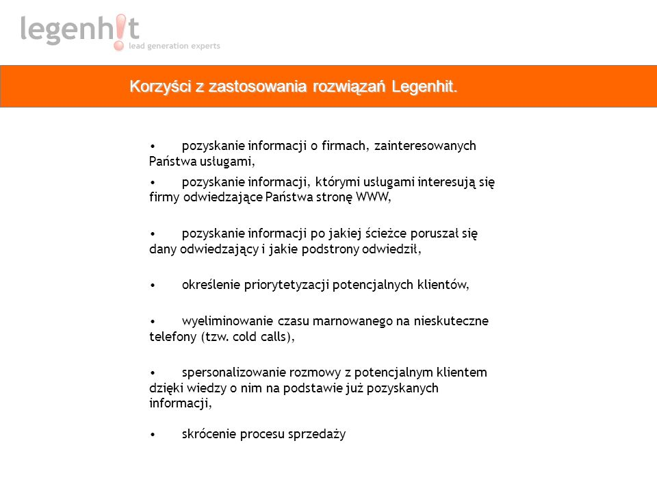 Korzyści z zastosowania rozwiązań Legenhit.