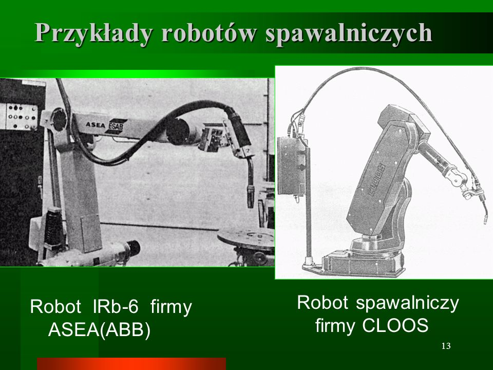 Przykłady robotów spawalniczych