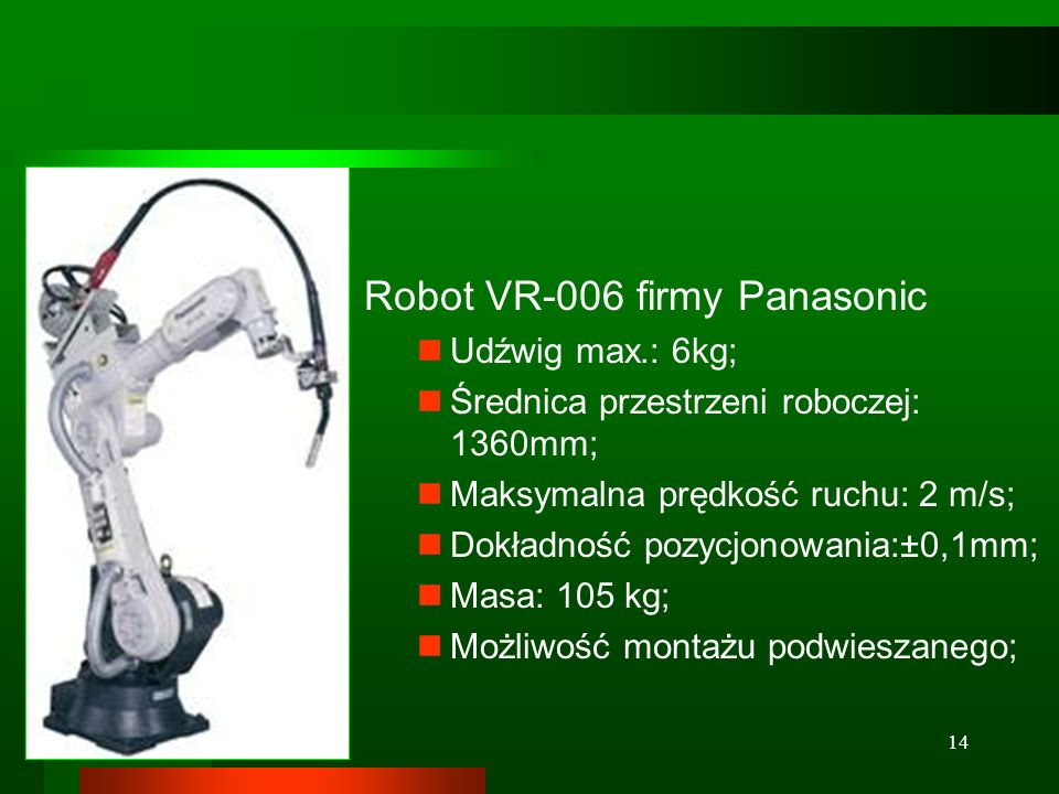 Robot VR-006 firmy Panasonic