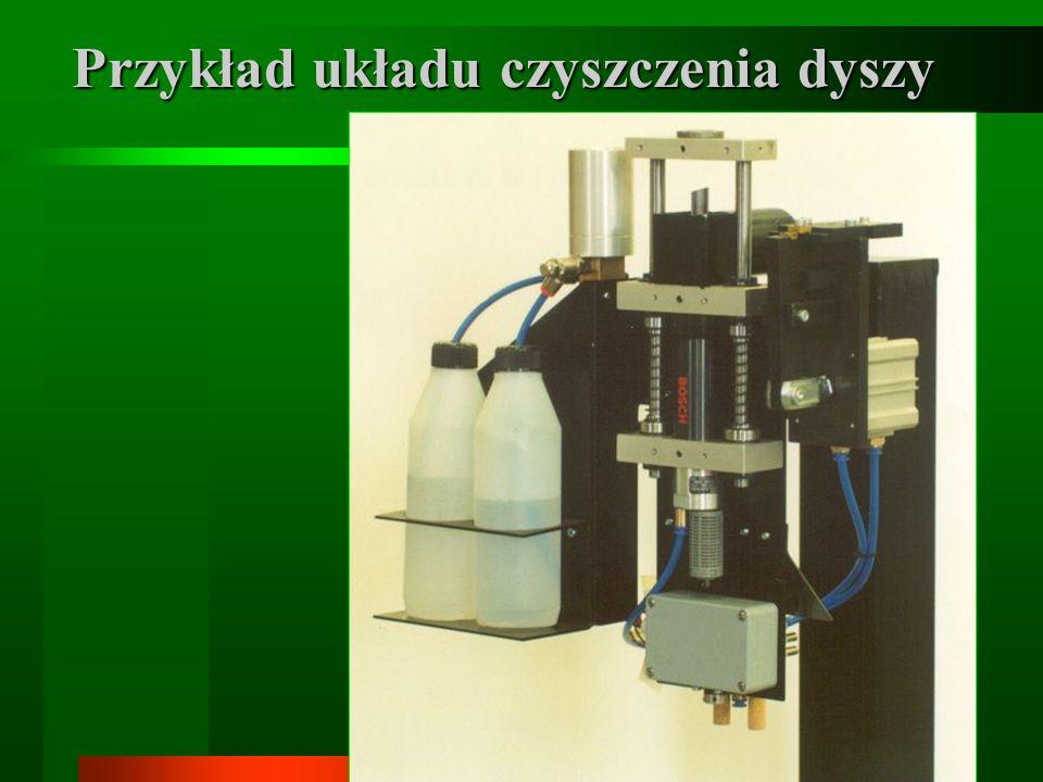 Przykład układu czyszczenia dyszy