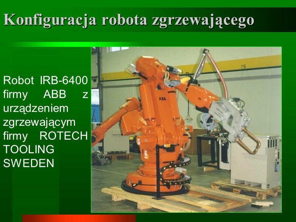 Konfiguracja robota zgrzewającego