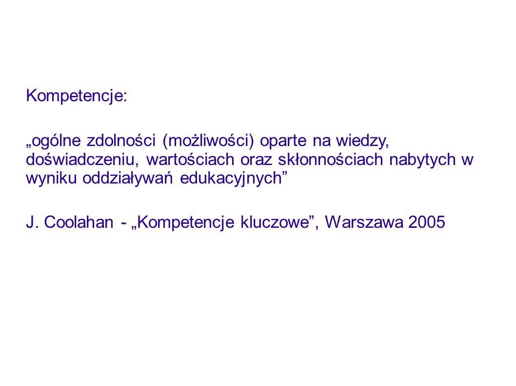 Kompetencje: