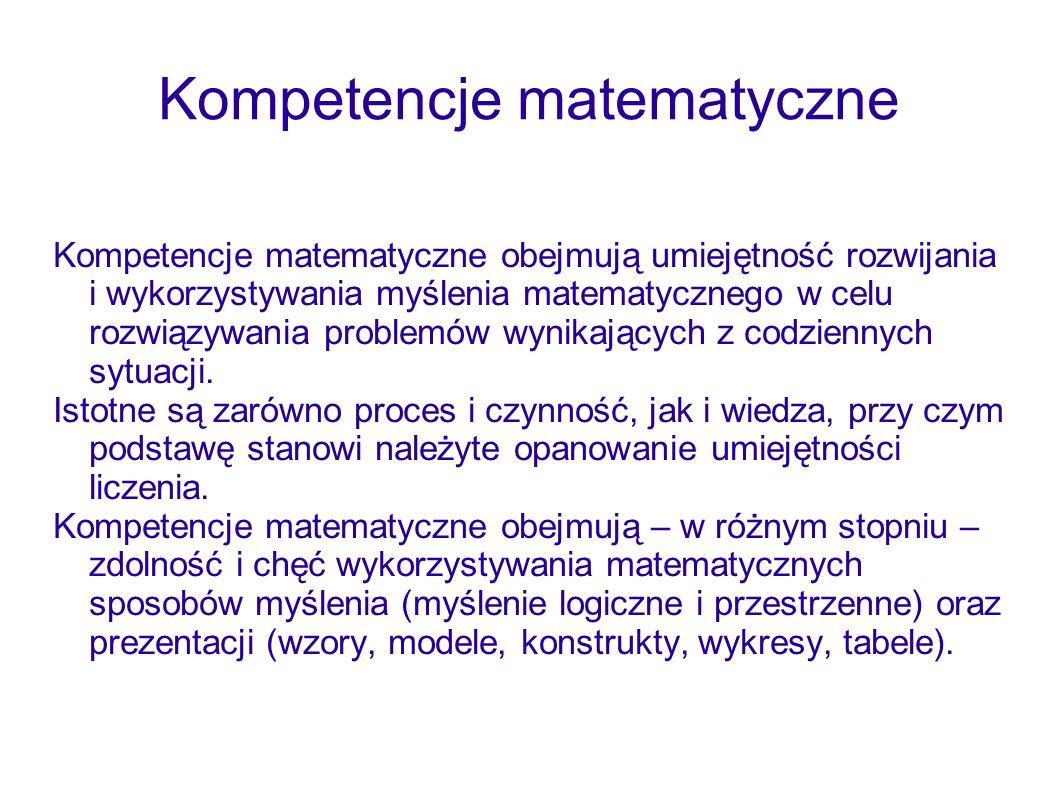Kompetencje matematyczne