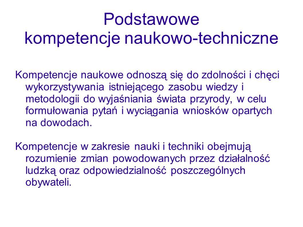 Podstawowe kompetencje naukowo-techniczne