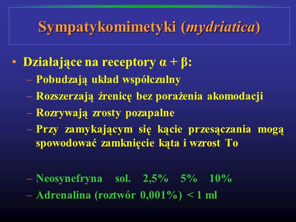 Sympatykomimetyki (mydriatica)