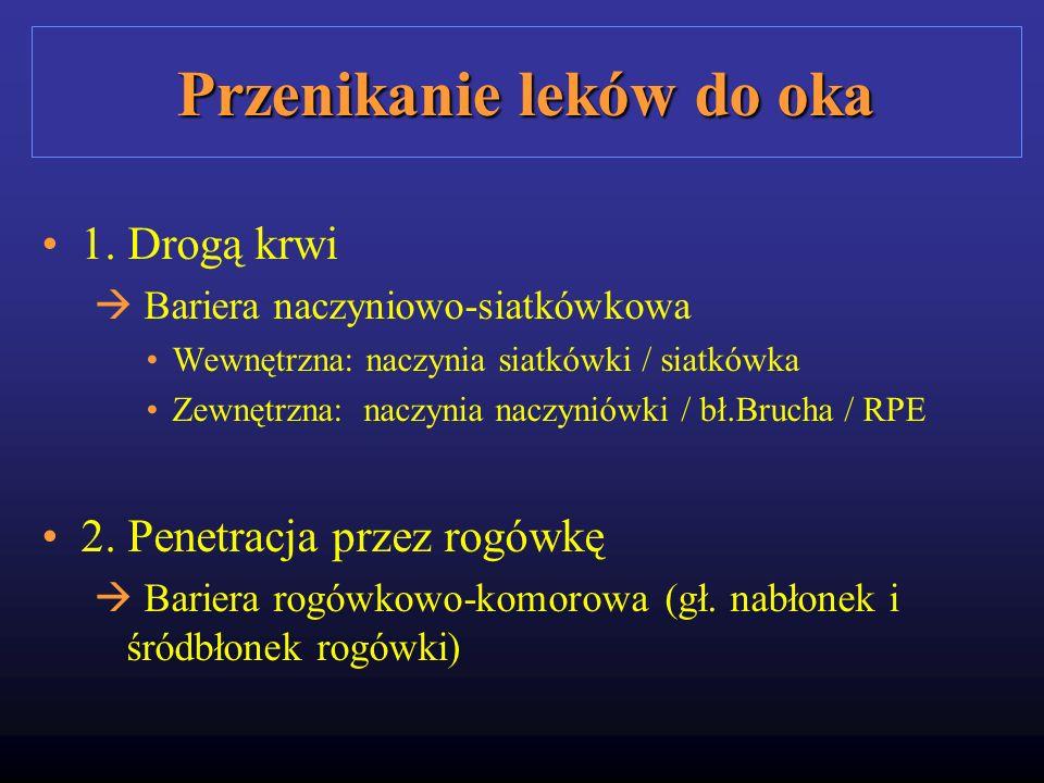Przenikanie leków do oka