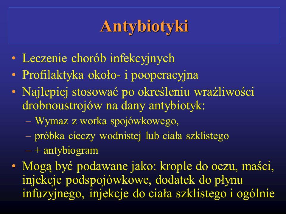 Antybiotyki Leczenie chorób infekcyjnych