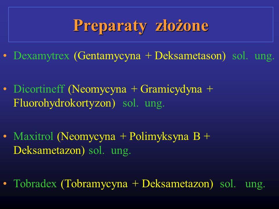 Preparaty złożone Dexamytrex (Gentamycyna + Deksametason) sol. ung.