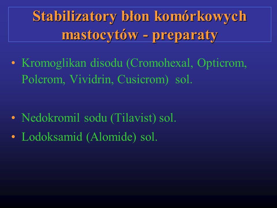 Stabilizatory błon komórkowych mastocytów - preparaty