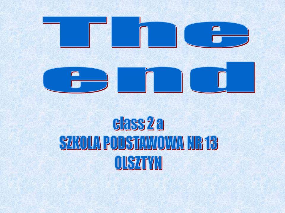 The end class 2 a SZKOLA PODSTAWOWA NR 13 OLSZTYN