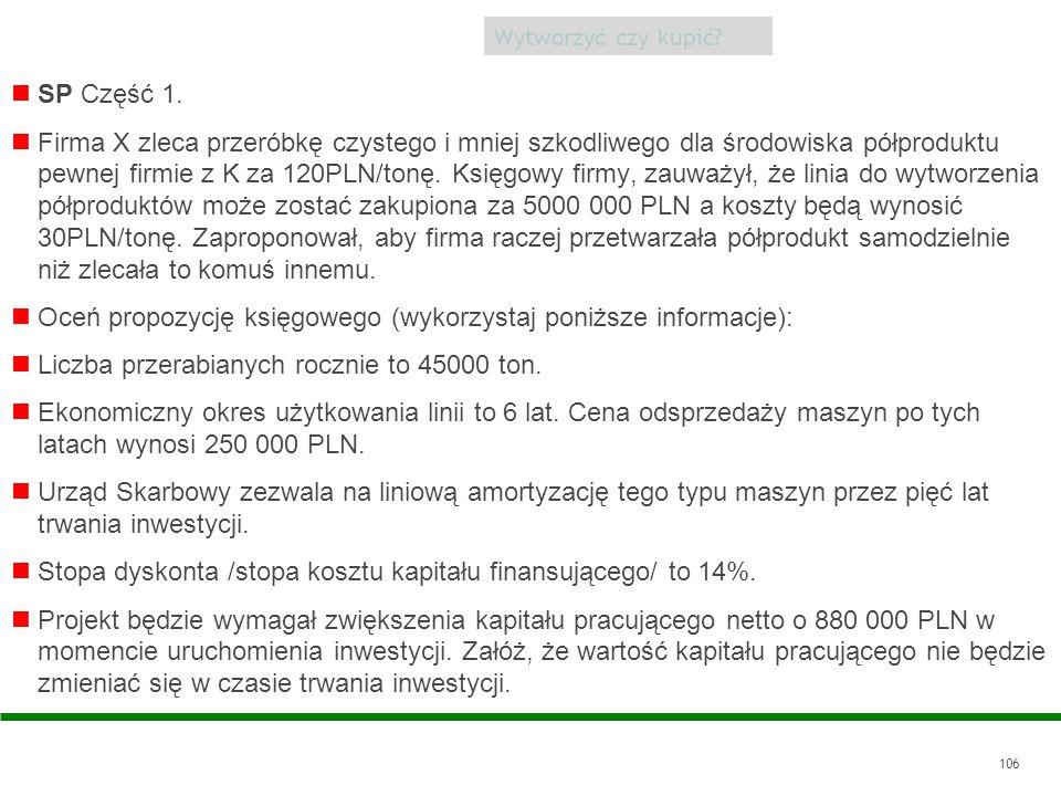 Oceń propozycję księgowego (wykorzystaj poniższe informacje):