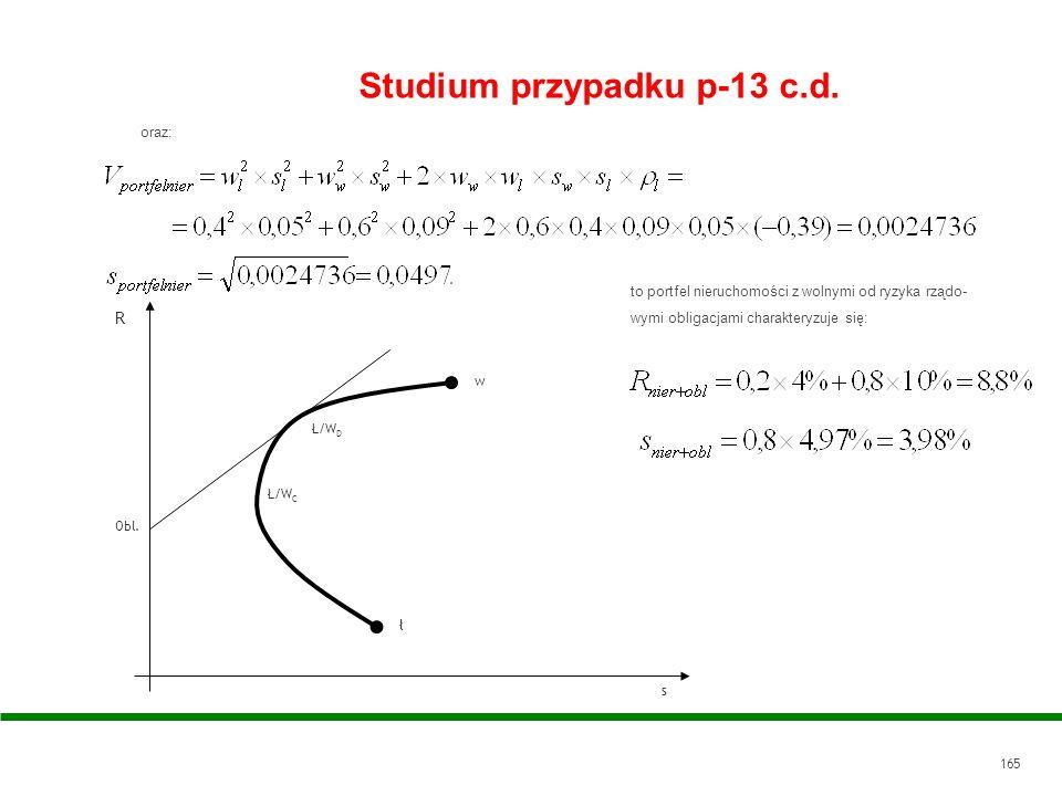 Studium przypadku p-13 c.d.