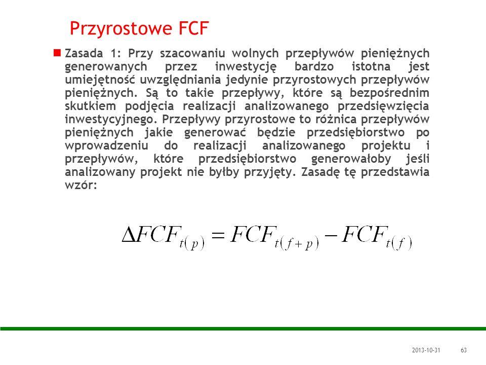 Przyrostowe FCF